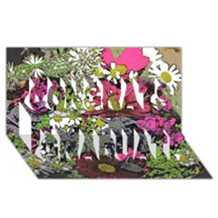 Amazing Garden Flowers 21 Congrats Graduate 3D Greeting Card (8x4)