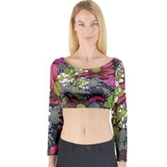 Amazing Garden Flowers 21 Long Sleeve Crop Top