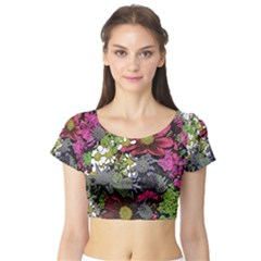 Amazing Garden Flowers 21 Short Sleeve Crop Top