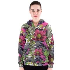 Amazing Garden Flowers 21 Women s Zipper Hoodies