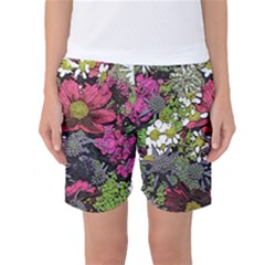 Amazing Garden Flowers 21 Women s Basketball Shorts