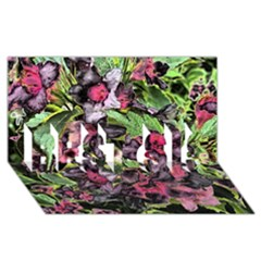 Amazing Garden Flowers 33 BEST SIS 3D Greeting Card (8x4)