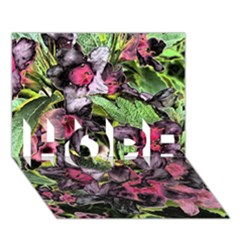 Amazing Garden Flowers 33 HOPE 3D Greeting Card (7x5)