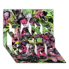 Amazing Garden Flowers 33 TAKE CARE 3D Greeting Card (7x5)