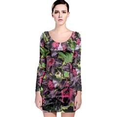 Amazing Garden Flowers 33 Long Sleeve Bodycon Dresses