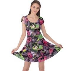 Amazing Garden Flowers 33 Cap Sleeve Dresses