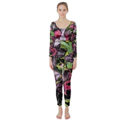 Amazing Garden Flowers 33 Long Sleeve Catsuit