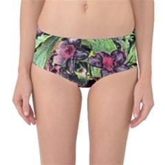 Amazing Garden Flowers 33 Mid Waist Bikini Bottoms