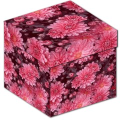 Awesome Flowers Red Storage Stool 12