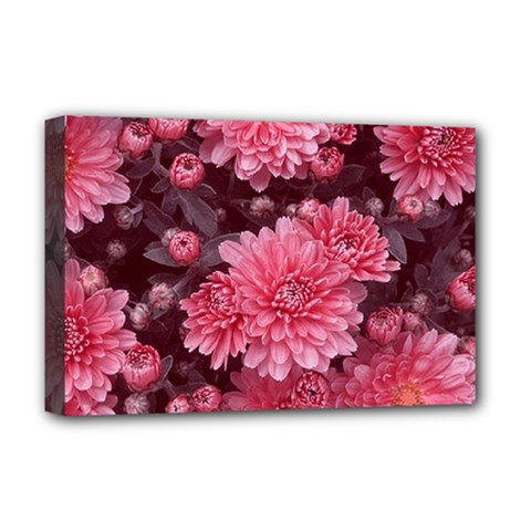 Awesome Flowers Red Deluxe Canvas 18  X 12