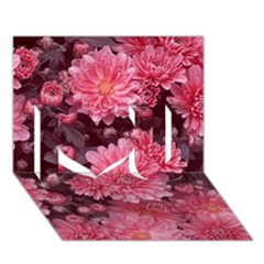 Awesome Flowers Red I Love You 3D Greeting Card (7x5)