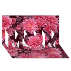 Awesome Flowers Red Mom 3d Greeting Card (8x4)