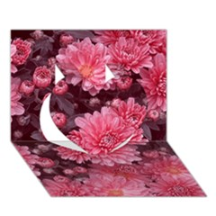 Awesome Flowers Red Heart 3D Greeting Card (7x5)
