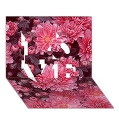 Awesome Flowers Red Love 3d Greeting Card (7x5)