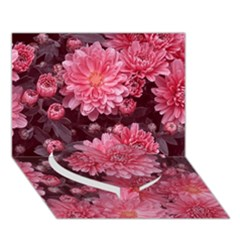 Awesome Flowers Red Heart Bottom 3D Greeting Card (7x5)