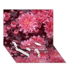 Awesome Flowers Red LOVE Bottom 3D Greeting Card (7x5)