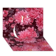 Awesome Flowers Red Apple 3d Greeting Card (7x5)