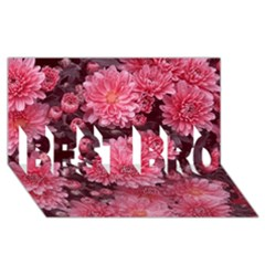 Awesome Flowers Red Best Bro 3d Greeting Card (8x4)