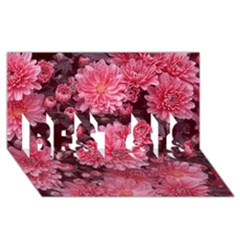 Awesome Flowers Red Best Sis 3d Greeting Card (8x4)