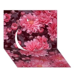 Awesome Flowers Red Circle 3D Greeting Card (7x5)