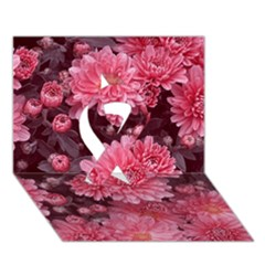 Awesome Flowers Red Ribbon 3D Greeting Card (7x5)