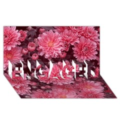 Awesome Flowers Red ENGAGED 3D Greeting Card (8x4)