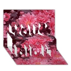 Awesome Flowers Red You Did It 3d Greeting Card (7x5)