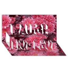 Awesome Flowers Red Laugh Live Love 3D Greeting Card (8x4)