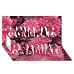 Awesome Flowers Red Congrats Graduate 3D Greeting Card (8x4)
