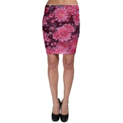 Awesome Flowers Red Bodycon Skirts