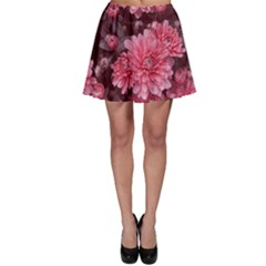 Awesome Flowers Red Skater Skirts