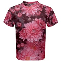 Awesome Flowers Red Men s Cotton Tees