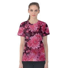 Awesome Flowers Red Women s Cotton Tees