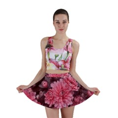 Awesome Flowers Red Mini Skirts
