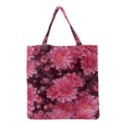 Awesome Flowers Red Grocery Tote Bags