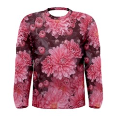 Awesome Flowers Red Men s Long Sleeve T-shirts
