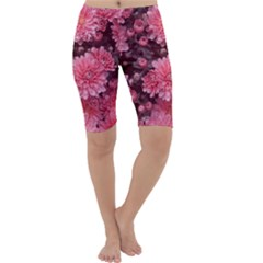 Awesome Flowers Red Cropped Leggings