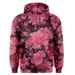 Awesome Flowers Red Men s Pullover Hoodies