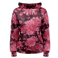 Awesome Flowers Red Women s Pullover Hoodies