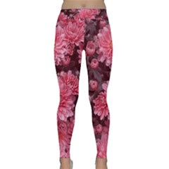 Awesome Flowers Red Yoga Leggings