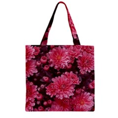 Awesome Flowers Red Zipper Grocery Tote Bags