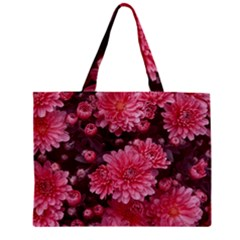 Awesome Flowers Red Zipper Tiny Tote Bags