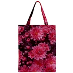 Awesome Flowers Red Zipper Classic Tote Bags