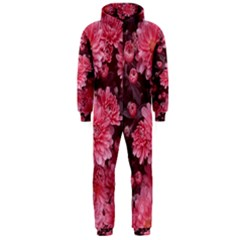 Awesome Flowers Red Hooded Jumpsuit (Men)