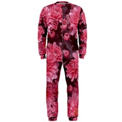 Awesome Flowers Red OnePiece Jumpsuit (Men)