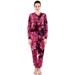 Awesome Flowers Red OnePiece Jumpsuit (Ladies)
