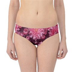 Awesome Flowers Red Hipster Bikini Bottoms