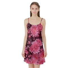 Awesome Flowers Red Satin Night Slip