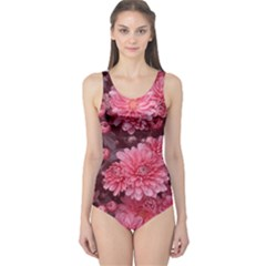 Awesome Flowers Red Women s One Piece Swimsuits