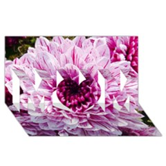 Wonderful Flowers MOM 3D Greeting Card (8x4)